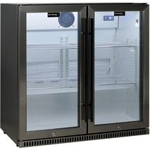 Schmick Alfresco Heated Glass Door Bar Fridge SK190-BS - White Led