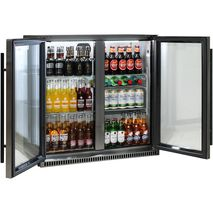 Schmick Alfresco Heated Glass Door Bar Fridge SK190-BS - White Led Wine Shelf