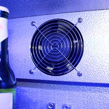 Schmick Black Outdoor Refrigerator - Special Quiet Low Pitch Fan