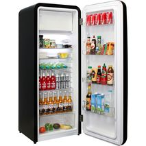 Retro Black Bar Fridge - So many storage options