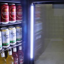 Schmick Shallow Depth Mini Fridge HUS-SC35-SS Led Light