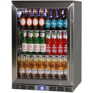 Rhino 1 Door Alfresco Outdoor Glass Door Bar Fridge Model GSP1HL-SS