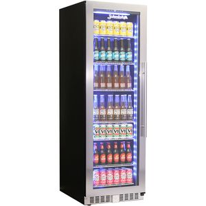 Schmick Upright Glass Door Quiet Bar Fridge Model BD425B