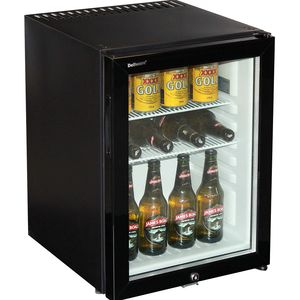 Dellware Silent Triple Glazed Glass Door Bar Fridge Model DW40T
