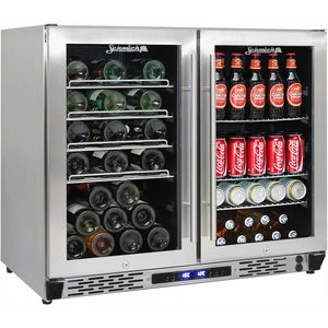 Schmick Dual Zone Alfresco Beer And Wine Bar Fridge JC190-GG