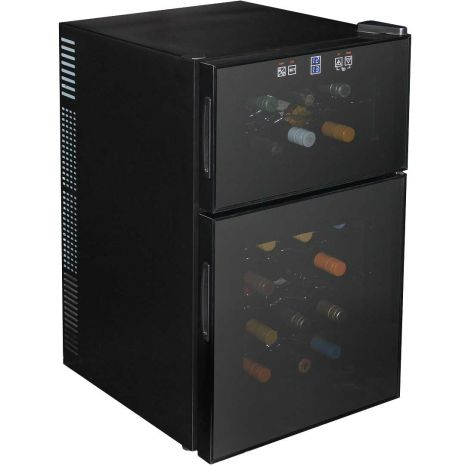 Mini Dual Zone Wine Refrigerator 24 Bottle Model BCW69