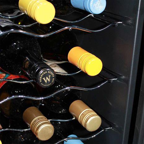 Mini Dual Zone Wine Refrigerator 24 Bottle Model BCW69 Wine Racks