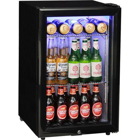 Glass Door Black Bar Fridge Model EC68