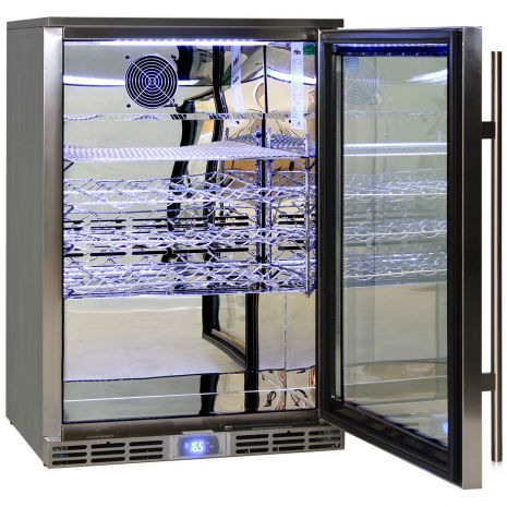 Rhino Bar Fridges - Polished Stainless 304 Steel Inner, Exterior All 304 Stainless Steel Including Grill, Handle, Screws, Hinges, Return Door Spring