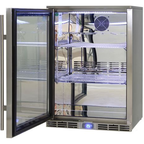 Rhino Alfresco Fridges Have Polished 304 S/S Interior Giving A Mirror Finish