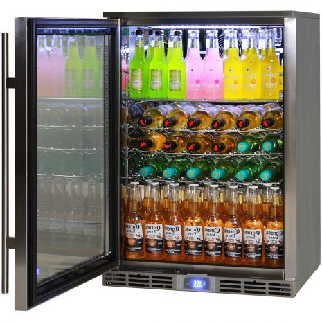 Rhino Alfresco Fridges Have Plenty Of Shelf Adjustments And Wine Shelving Can Be Added, Shelving Is Chromed And The Ladders And Clips Are Stainless Steel