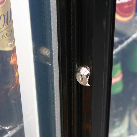 Rhino 2 Sliding Glass Door Bar Fridge Model SG2S-B lock