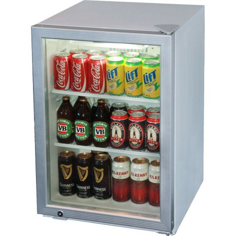 Skope Commercial Glass Door Bar Fridge Model HB80 Angle