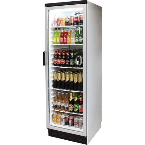 Vestfrost Commercial Bar Fridge With Glass Door and Lock 381Litre Model FKG-371 angle