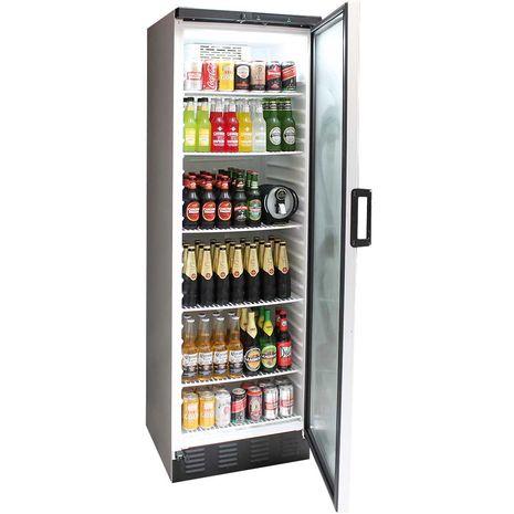 Vestfrost Commercial Bar Fridge With Glass Door and Lock 381Litre Model FKG-371 open