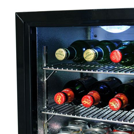 Glass Door Black Bar Fridge Model EC50 Main