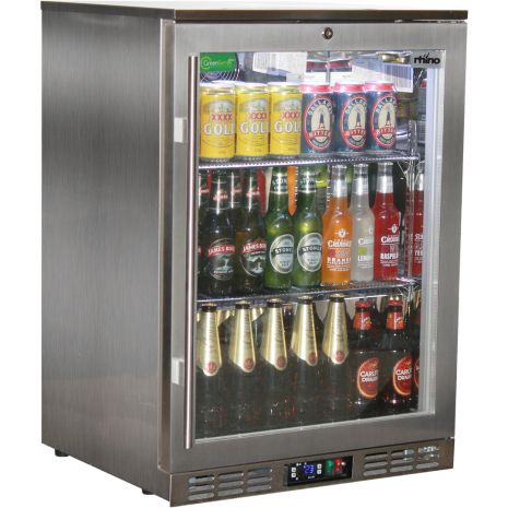 Rhino 1 Door Heated Glass Door Bar Fridge Model SG1R-SS