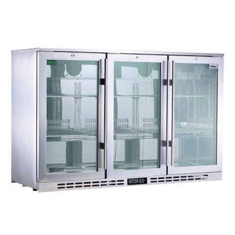 Rhino 3 Door Triple Glass Door Bar Fridge Model SG1R-SS Left Hinged