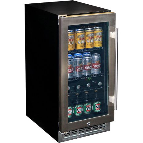 Glass Door Under Bench Bar Fridge With Quiet Operation Controller