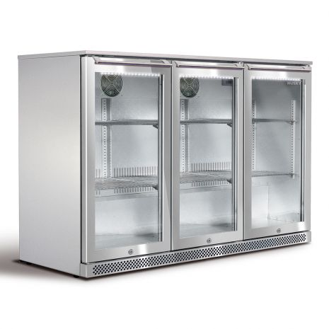 Husky 3 Door All Stainless Outdoor Alfresco Bar Fridge