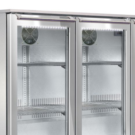 Husky 3 Door Alfresco Glass Door Bar Fridge