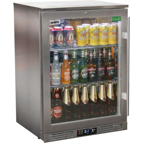 Rhino 1 Door Heated Glass Door Bar Fridge Model SG1R-SS Left Hinged