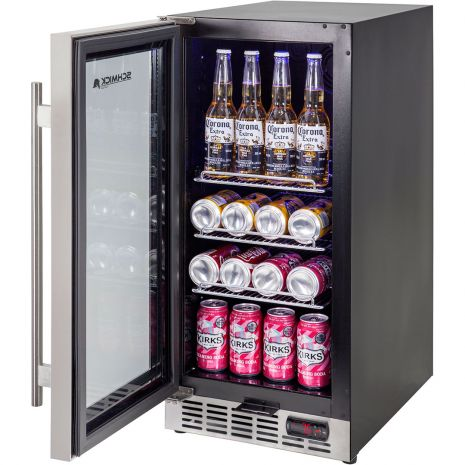 Glass Door Under Bench Bar Fridge - Plenty Of Shelf Options Including Wine