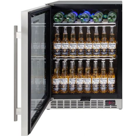Glass Door Front Venting Beer Fridge - Add Wine Shelving No Problem