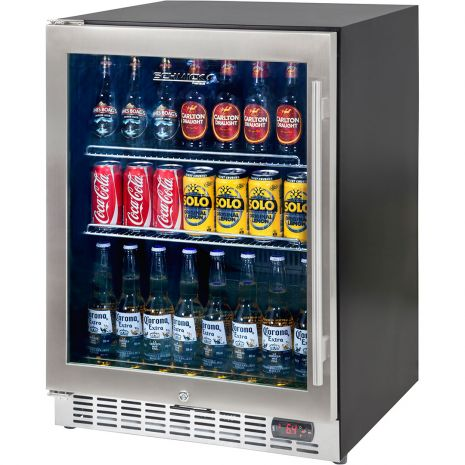 Under Bench Glass Door Beer Fridge For Indoors SK151B