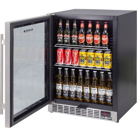 Glass Door Front Venting Beer Fridge With Quiet Operation YC150B