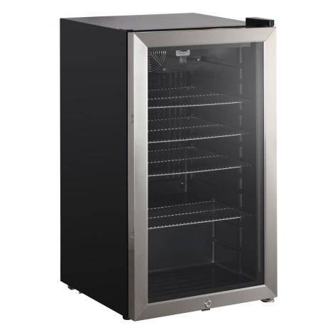 Triple Glazed Alfresco Bar Fridge With Lock And Blue Led