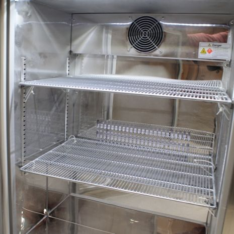 Rhino 1 Door All Stainless Steel Bar Fridge Model Inside