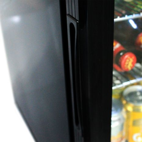 Glass Door Black Bar Fridge Model EC50 Handle