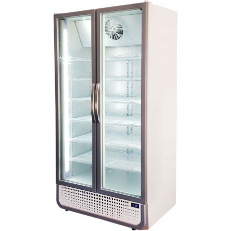 Husky Upright 2 Door Commercial Glass Front Bar Fridge