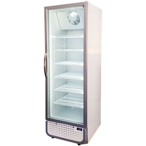 Husky Upright 1 Door Commercial Glass Front Bar Fridge