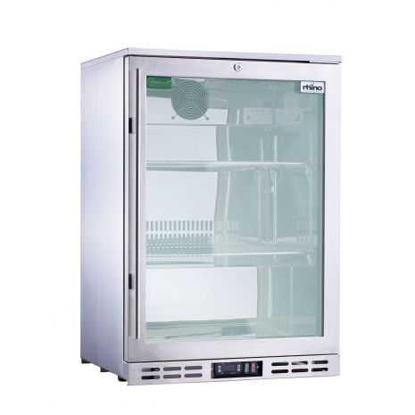 Rhino 1 Door Triple Glass Door Bar Fridge Model SG1R-SS Right Hinged