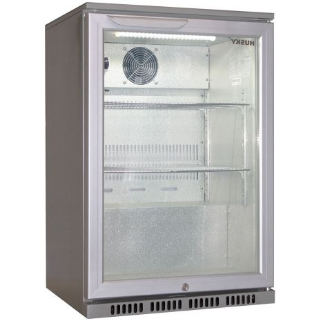 Husky Commercial Silver C1 Bar Fridge Angle