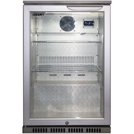 Husky Bar Fridge Silver Color