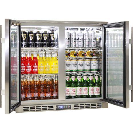 Rhino 2 Door Triple Glass Door Bar Fridge - Great Warranty, In Best 2 Lowest Energy Consumption On Australia Market, LOW E Glass To Prevent Condensation