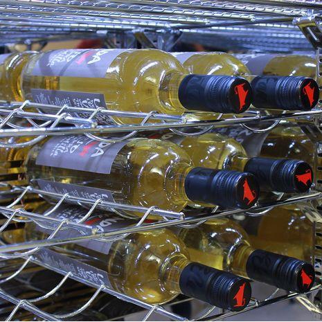 Wine Shelf Options Mean Everyone's Happy