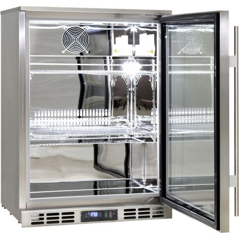 Rhino 1 Door Triple Glass Door Bar Fridge - Self Closing Door And Adjustable Shelves