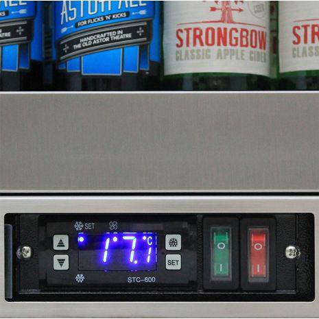 Rhino 1 Door Triple Glass Door Bar Fridge - Electronic Control, Brand Name Parts