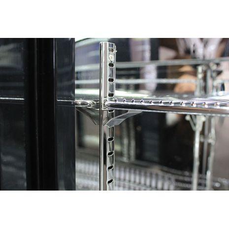 Rhino 2 Sliding Glass Door Bar Fridge Model SG2S-B clips