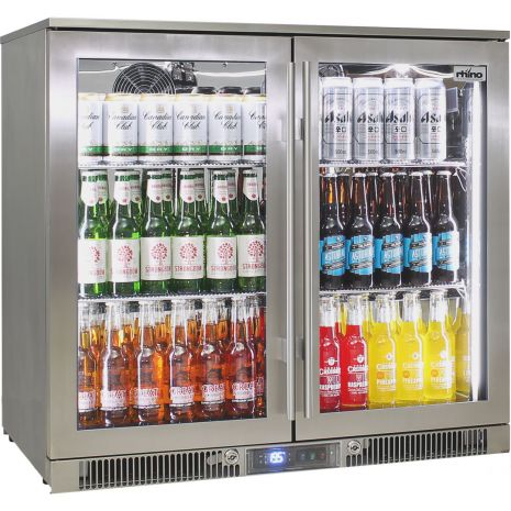 Rhino 2 Door Alfresco Outdoor Glass Door Bar Fridge  Model ENV2H-SS