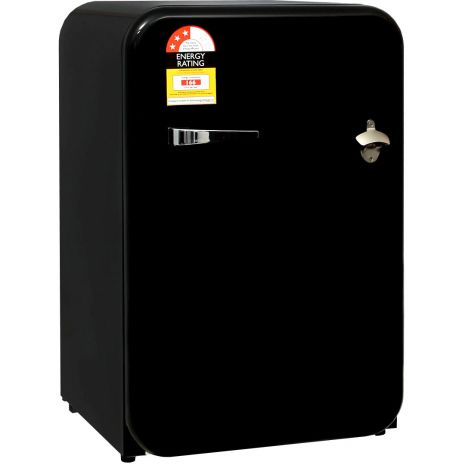 Husky Black Retro 110Litre Bar Fridge