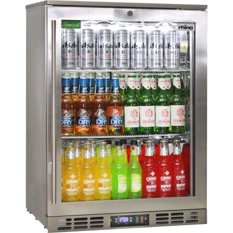 Rhino Quiet 1 Door Triple Glass Door Bar Fridge - Quiet Indoor Version