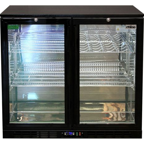 Rhino Double Door Bar Fridge - Led Lighting With Remote Control And 12 Colors