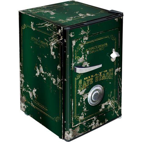 Dark Green Safe Bar Fridge BC70