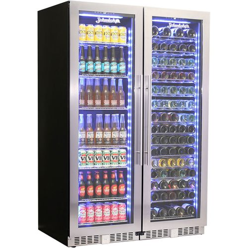 Schmick Upright Beer And Wine Matching Fridge Combination BD425-Combo
