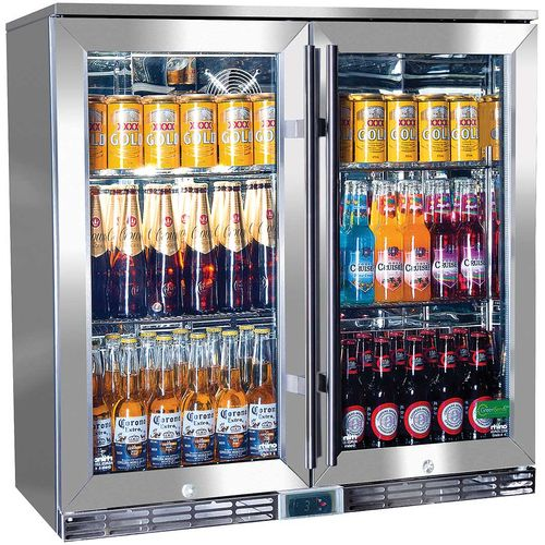 Rhino 2 Door Alfresco Outdoor Glass Door Bar Fridge  Model GSP2H-840-SS